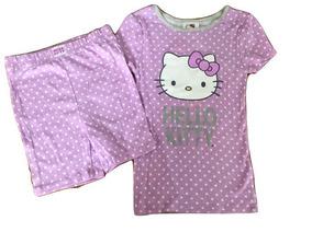 Pijama Nueva Hello Kitty Morada De Bolitas Talla 6