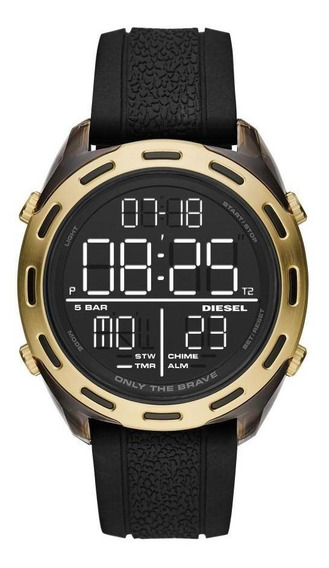 Relógio Masculino Diesel Dz1901/8pn 47mm Silicone Preto