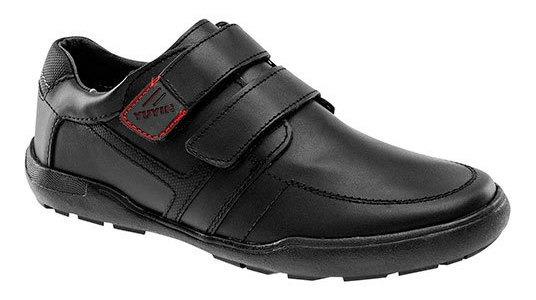 Yuyin Sneaker Deportivo Escolar Negro Piel Niño N44177 Udt