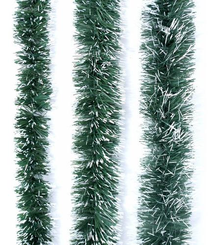 Guirnalda Navidad Verde Pino Nevada 8 Cm X 2 M #296
