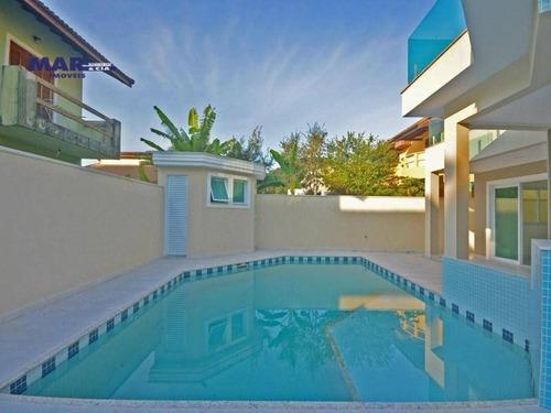 Casa Com 4 Dormitórios À Venda, 300 M² Por R$ 2.200.000,00 - Pernambuco Ii - Guarujá/sp - Ca0684