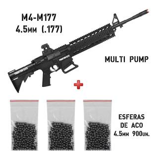 Rifle De Pressão Phantom Elite M4-m177 4.5mm+ Esferas De Aço