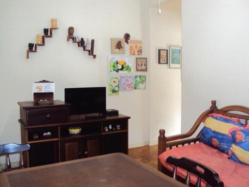 Apartamento Com 1 Dormitório Para Alugar, 65 M² Por R$ 2.000,00/mês - José Menino - Santos/sp - Ap4268