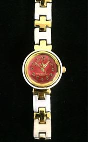Relógio Feminino Cadina Vermelha Produto De Mostruário 002