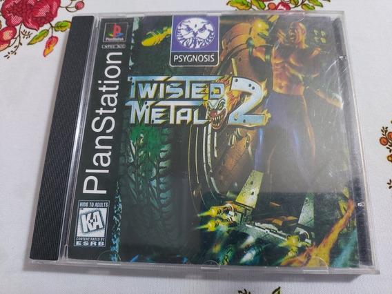 Twisted Metal 2 Playstation One Ps1 Patch Prensado Prateado