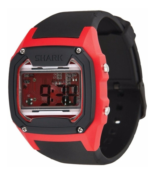 Relógio Freestyle Killer Shark Skeleton - Preto/vermelho