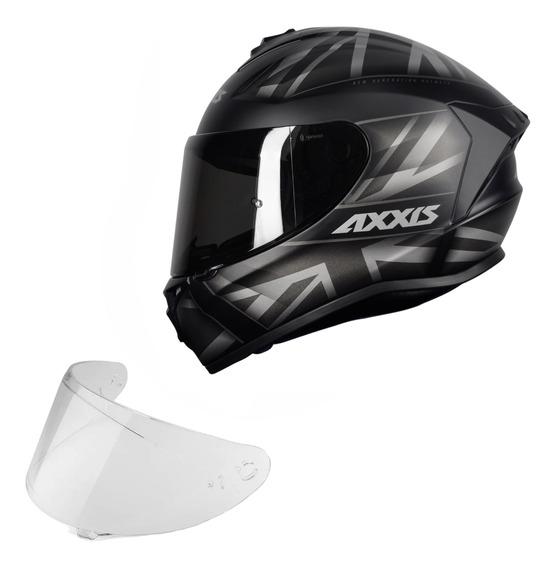Capacete Axxis Draken Uk Fosco + Viseira Extra Capacete Moto