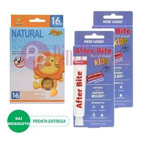 2 Pomadas After Bite Kids + Adesivo Repelente Simba