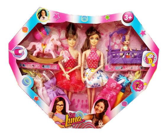 Muñeca Soy Luna Tipo Barbie Vestidos Accesorios Juguete