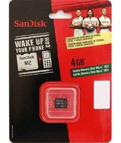 Cartão Micro M2 4gb Memory Stick Sandisk