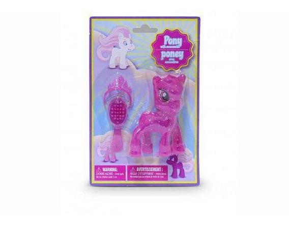 Pônei Glitter Rosa Com Acessórios 4750 Dtc
