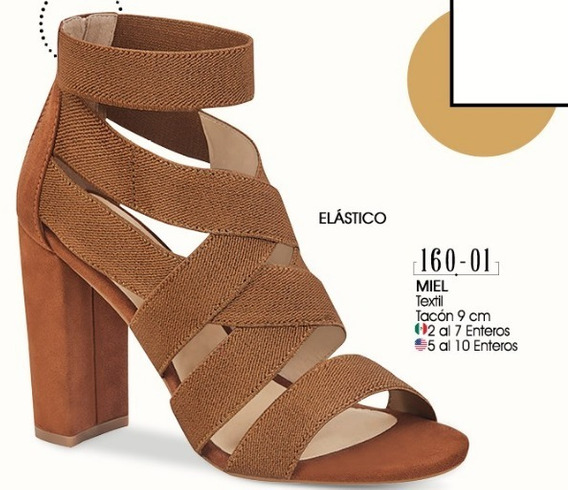 Zapatos De Tacon Color Miel 160-01 Cklass Dama 2-19 D