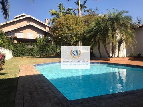 Casa Com 5 Dormitórios, 477 M² - Venda Por R$ 2.400.000,00 Ou Aluguel Por R$ 8.000,00/mês - Residencial Parque Rio Das Pedras - Campinas/sp - Ca1270