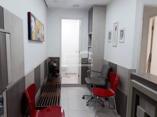 Imagem 1 de 9 de Sala Comercial Mobiliada Para Consultório  Odontológico No Brasilia Tower Em Santana - Cf35653