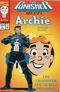 Punisher Meets Archie # 1 1994 Promo Die Cut Cover ( Rara )