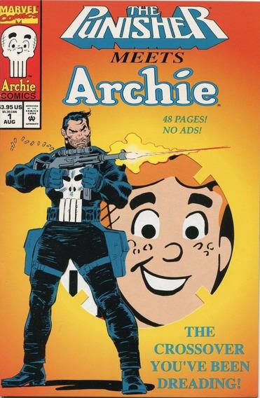 Punisher Meets Archie # 1 1994 Promo Die Cut Cover ( Rara )