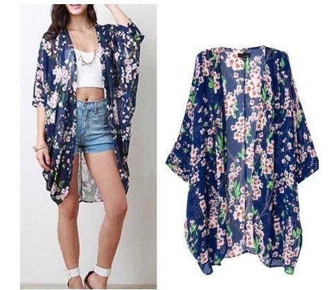 Kimono Cardigan Blusa Feminino Floral Moda Blog Outono 2019