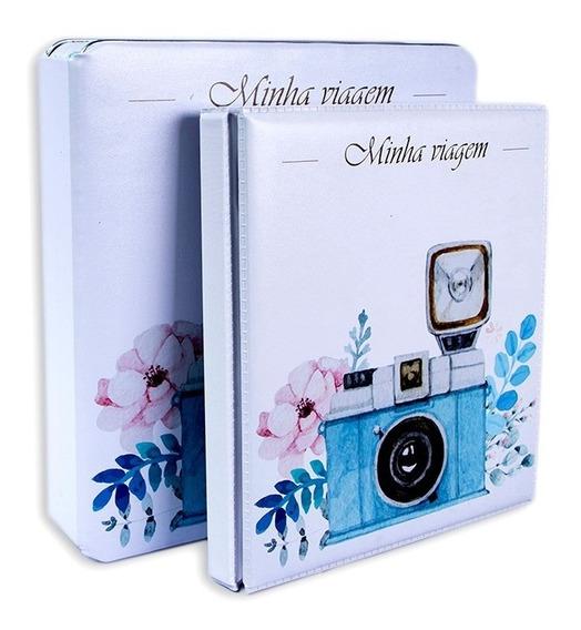 Álbum C/ Caixa - Minha Viagem - P/ 600 Fotos 10x15 Fretegratis