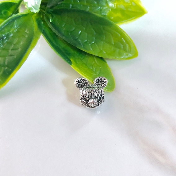 Charms Plata Compatible Pandora Mickey Mouse 2 Vistas