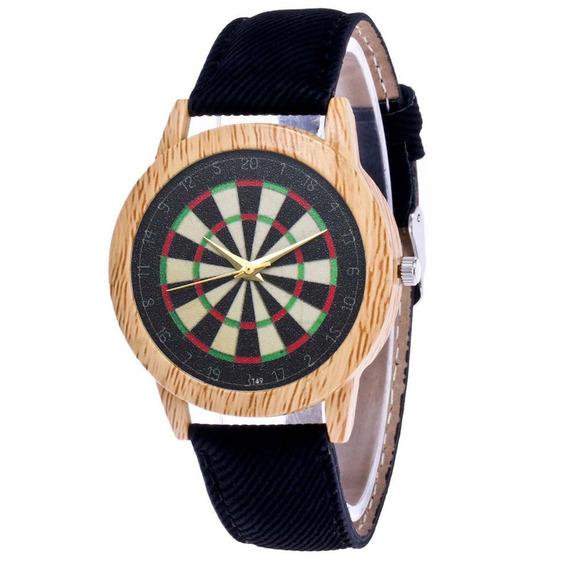 T49- N Luxuoso Relógio De Pulso Inoxidável Aço Couro Band