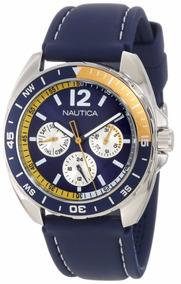 Relógio Nautica N09915g Masculino Esporte 2 Pulseiras