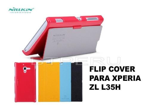 Estuche Cuero Filp Cover Sony Xperia Zl L35h Nillkin Funda