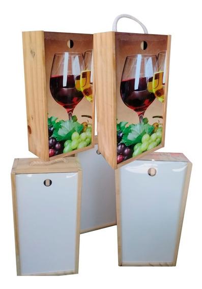 Caja De Vino Doble - Pino