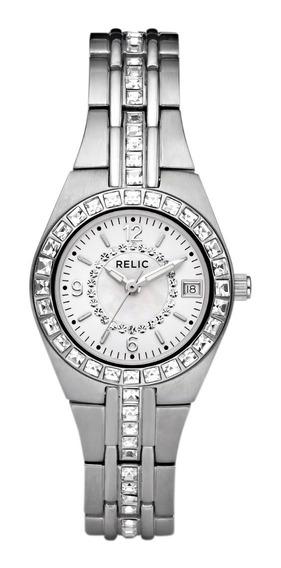 Reloj Dama Relic Queens Court Zr11788 Color Plateado