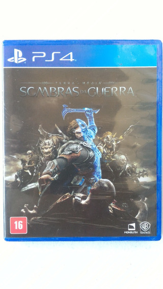 Terra Media Sombras Da Guerra Ps4 Playstation 4 Midia Fisica