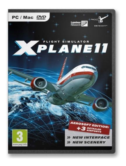X-plane 11 Pc Versão Mapa Global Simulador Mídia Digital