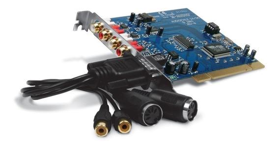 Audiophile 2496 Placa De Som M-audio Pci Audiophile2496 Novo