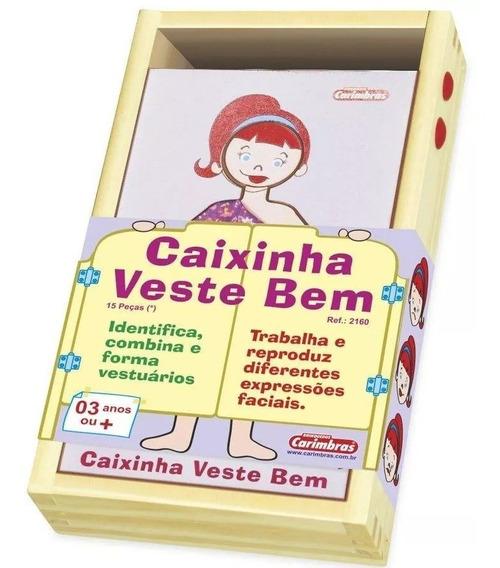 Caixinha Veste Bem Menina Brinquedo Educativo Pedagógico