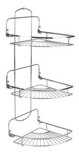 Accesorios Para Baño Daccord Organizador Esquinero 3 Estantes Metalico