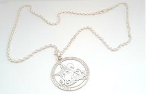 Cordao 18 Gramas Em Prata 950k Lei Com Medalha De São Jorge