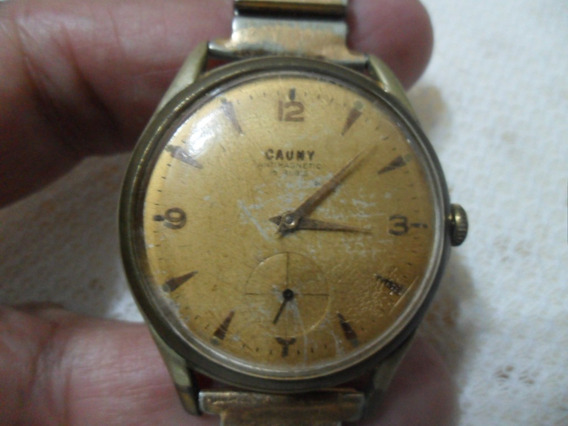 Relógio Antigo Corda Cauny Prima Antimagnetic Funcionando