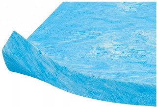Memory Foam Gel Top Individual Azul