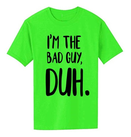 Remera Billie Eilish Bad Guy Verde Neon Logo