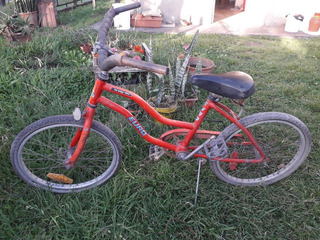 Bicicleta Rodado 20 Color Roja Usada