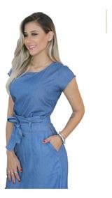 Roupas Femininas Saia Longa Jeans Sem Lycra Luxo 071