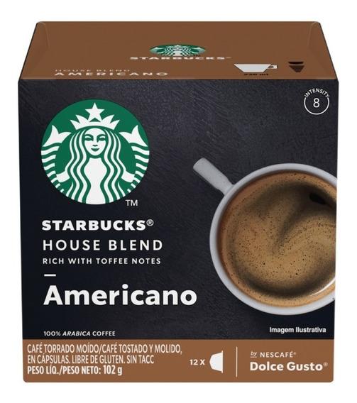 Starbucks Americano House Blend Cápsulas Dolce Gusto Oficial
