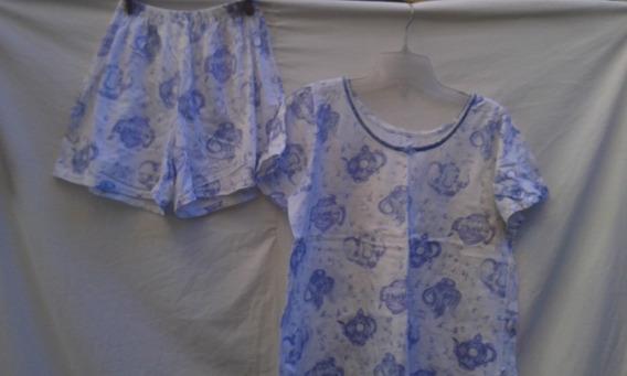 Pijama Verano Mujer Talle L Remera + Short