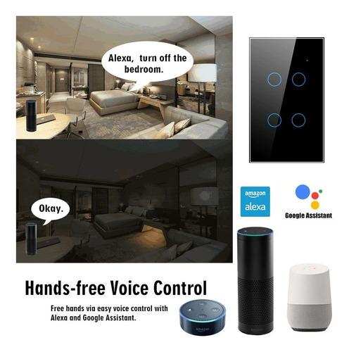 Apagador Wifi Para Domotica Alexa Y Google Home (4 Botones)