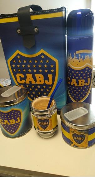 Set De Mate Boca Juniors