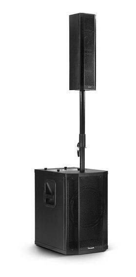 Sistema Caixa De Som Torre Amplificado Pa Grt12 700w Rms De Potência Usb Bluetooth Controle Remoto Frahm
