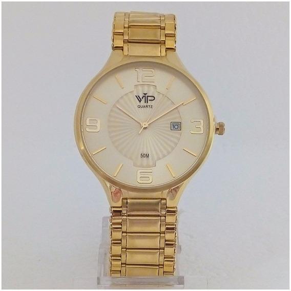 Relógio Masculino Vip Quartz Mh295 Slim Original 12x S/juros
