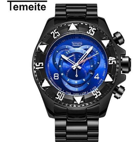 Relógio De Pulso Masculino Adulto Temeite 020g. De Luxo