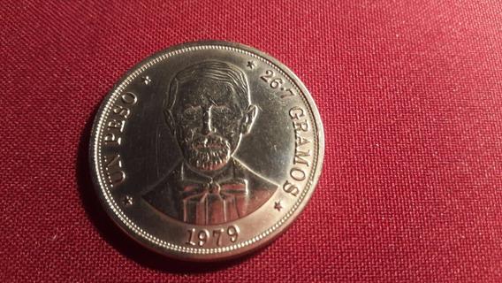 R. Dominicana 1979 Un Peso-26.7 Gramos Ni Unc
