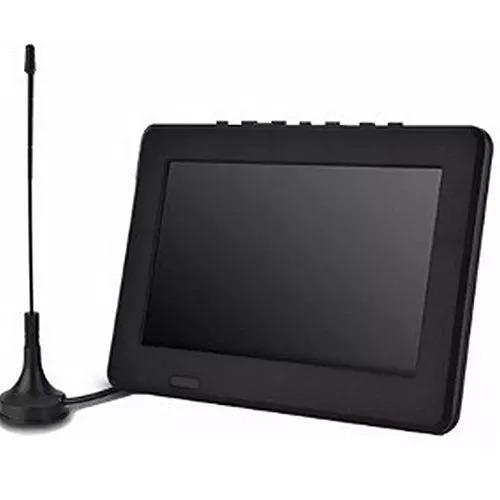 Tv Portátil Led Monitor Tv Digital 7 Pol Micro Sd C/ Antena0