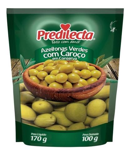 Azeitonas Verdes Com Caroço 100g Sachê Predilecta