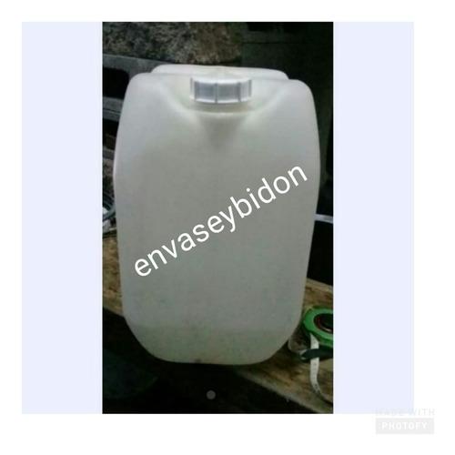 Envase Y/o Bidon Plastico 30 Lts Blanco Con Tapa